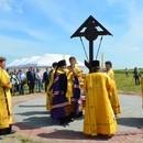 Освящен закладной Крест на месте будущего подворья Александро-Свирского монастыря